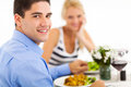 Couple in restaurant Stock Image