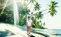 Couple Romance Beach Love Island Concept