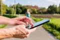 Title: Couple running, sport jogging on rural street