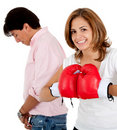 Couple's fight Stock Photos
