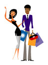 Couple with shopping bags Stock Photography
