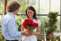 Couple shopping in garden center Royalty Free Stock Photo