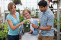 Couple shopping for plants Stock Photography