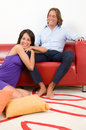 Couple sitting in home Royalty Free Stock Image