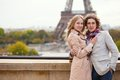 Couple spending their honeymoon in Paris Royalty Free Stock Photo