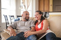 Couple spending time together at home Royalty Free Stock Photography