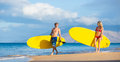 Couple stand up paddling in hawaii attractive active life concept Royalty Free Stock Photo