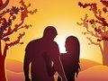 Couple at sunset Royalty Free Stock Images