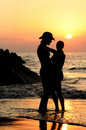 Couple at sunset Royalty Free Stock Photography