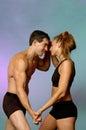 Couple in swimwear Royalty Free Stock Photo