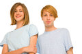 Couple of teenagers Royalty Free Stock Images