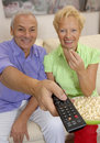 Couple television. Royalty Free Stock Image