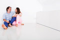 Couple in their empty apartment Royalty Free Stock Photo