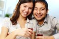 Couple toasting Stock Image