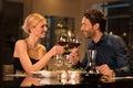 Couple toasting wineglasses Royalty Free Stock Photo