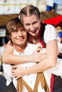 Couple in Tracht on Dult or Oktoberfest Royalty Free Stock Photos