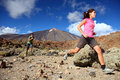 Couple trail running Stock Photography