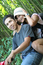 Couple traveling at tropical country Royalty Free Stock Photography