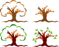 Couple tree logo illustration art of a with isolated background Royalty Free Stock Photo