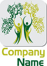 Couple tree logo illustration art of a with isolated background Stock Images