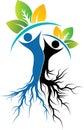 Couple tree logo Royalty Free Stock Photo