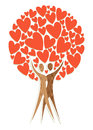 Couple tree of love Stock Photos