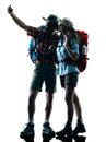 Couple Trekker Trekking Nature...