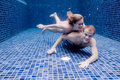 Couple Underwater Royalty Free Stock Image