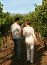 Couple at vineyard Stock Photo