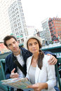 Couple visiting new york city Royalty Free Stock Photo