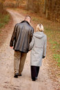 Couple walk Royalty Free Stock Photo