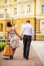 Couple walking away Royalty Free Stock Photo
