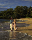 Couple walking on a maui beach Stock Photography