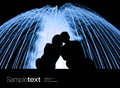 Couple watching fountain Royalty Free Stock Photo