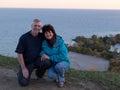 Couple watching sunset. Royalty Free Stock Photo