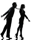 Couple woman seductress bonding concept  silhouette Royalty Free Stock Photo