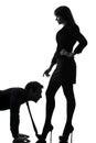 Couple woman seductress bonding concept silhouette Royalty Free Stock Photo