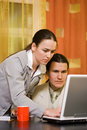 Couple working Royalty Free Stock Image