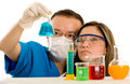 Couple of young chemistry stud Royalty Free Stock Photography