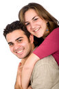 Couple of young people portrait Stock Photo