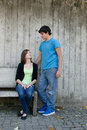 Couples de l'adolescence Photographie stock