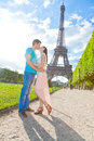 Couples de Paris Photo libre de droits