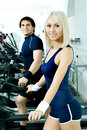Couples de sport Photo stock