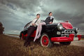 Couples de vintage. Photo stock