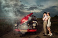 Couples de vintage. Photos libres de droits