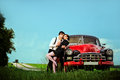 Couples de vintage. Photographie stock libre de droits