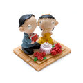 Couples dolls a pair of lovers to celebrate valentine s day Stock Photography