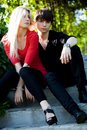 Couples - fille et type Photo libre de droits
