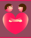 Couples heart Royalty Free Stock Image