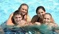 Vapor en piscina